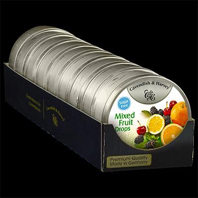 Mixed Fruit Drops Sugar Free 9x175g