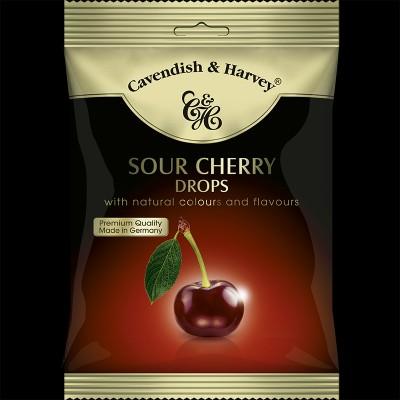 Sour Cherry Drops, einzeln verpackt 100g