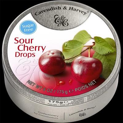 Sour Cherry Drops Sugar Free 175g