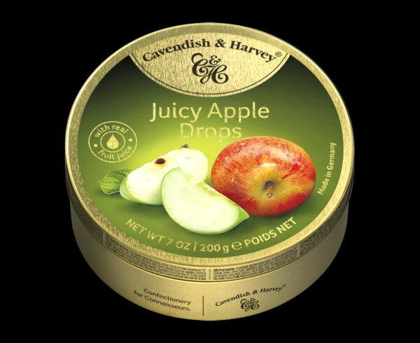 Juicy Apple Drops, 200g, 600x490