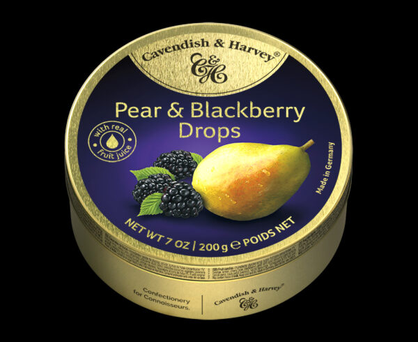 Pear & Blackberry Drops, 200g, 600x490