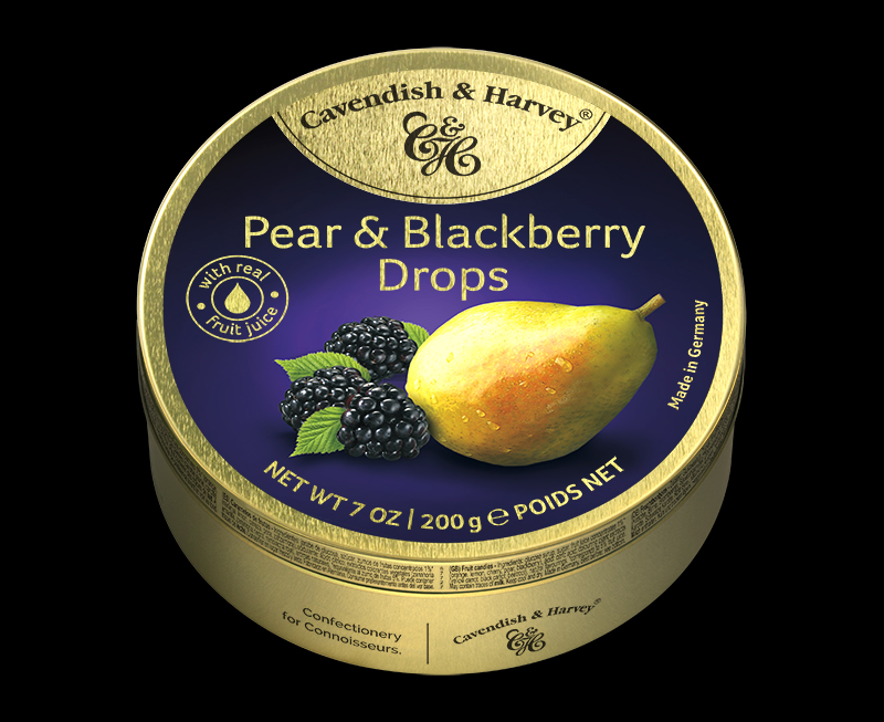 Pear & Blackberry Drops, 200g