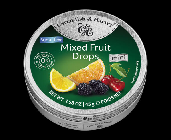 Sugar Free Mixed Fruit Drops, 45g, 600x490