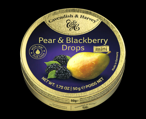 Pear & Blackberry Drops, 50g, 600x490