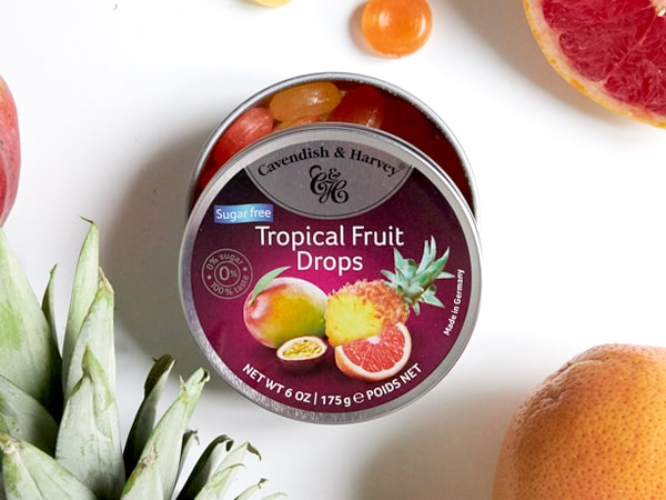 Was ist das Besondere an Sugar Free Tropical Fruit Drops?