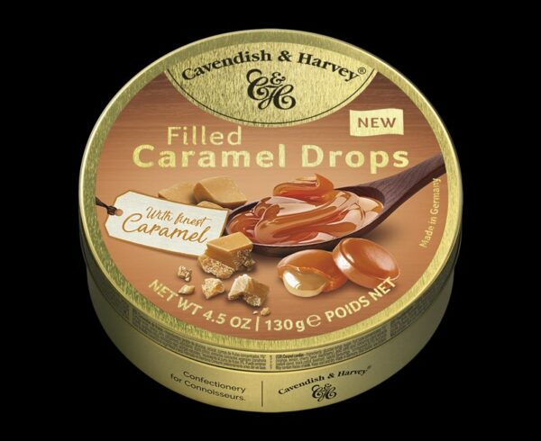 Caramel Drops filled with finest Caramel, 130g, 600x490