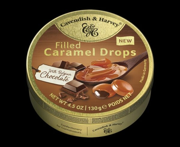 Caramel Drops filled with Belgian Chocolate, 130g