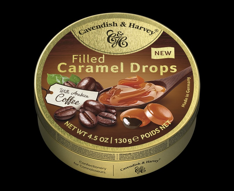 Caramel Drops Filled with Arabica Coffee, 130g