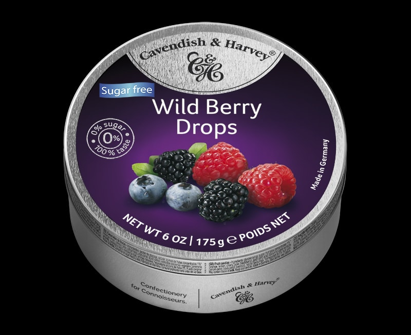 Sugar Free Wild Berry Drops, 175g