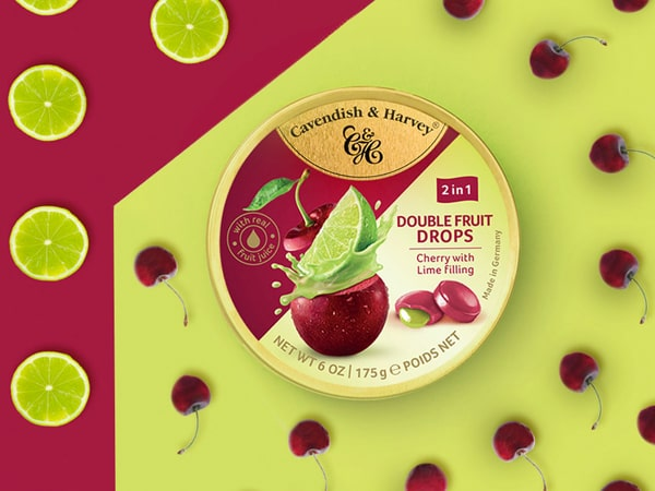 Was ist das Besondere an Double Fruit Drops - Cherry with Lime Filling?
